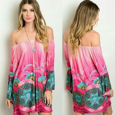 Nwot Go To Off Shoulder Peasant Style Mini Dress