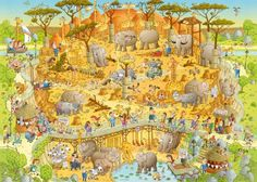 African Habitat - Marino Degano  * Heye puzzles catalog: http://www.heye-puzzle.com/static/Kataloge/Heye_Puzzle_2014.pdf