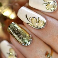 Top 50 Golden Wedding Nail Designs | Nail Design Ideaz