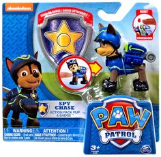 Nickelodeon Paw Patrol Spy Chase Action Pack Pup & Badge BNIP New Release!! HTF  #Nickelodeon