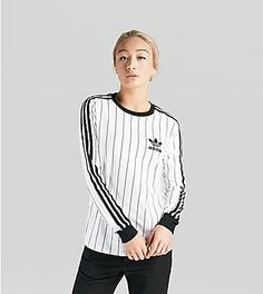adidas Originals 3 Stripe Long Sleeve T-Shirt Women's