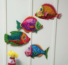 Funky Fish,Wall Décor,Metal,17x3x10 Inches,Set of 4 by Ashley Gifts. $49.99. Save 33% Off!