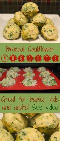 Broccoli Cauliflower Nuggets Recipe. Perfect for picky eaters. Gluten free. Healthy tips for parents.
