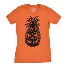 pineapple jack o lantern womens tshirt