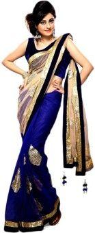 Kajal Sarees Striped Fashion Chiffon Sari