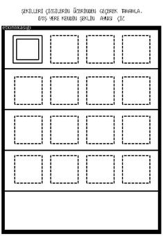 Shapes Worksheets, Finger Plays, Step Kids, Preschool, Arts And Crafts, Handmade, Geometric Fashion, Fine Motor, Early Education