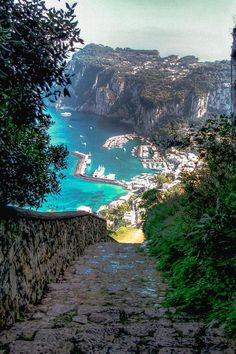 Road to Capri Harbor, Italy / travel Places Around The World, The Places Youll Go, Places To See, Around The Worlds, Dream Vacations, Vacation Spots, Wonderful Places, Beautiful Places, Amazing Places