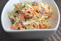 Bobby Flay's Russian Dressing Cole Slaw. Awesome of burgers!!! Compliments all the flavors really well.