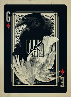 Good vs Evil Playing card Poster | more here: http://playingcardcollector.net/2013/07/21/playing-cards-art-posters-1/