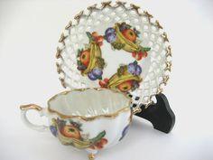Vintage Japanese Lusterware TeaCup and Saucer by BelleBloomVintage, $19.95