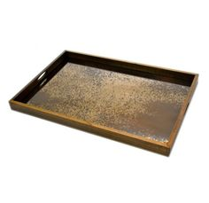 "$490 20"" x 30"" Heavy Aged Bronze Tray"