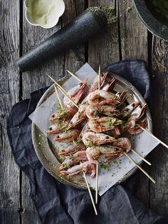 Gegrillte Garnelen mit Limettensaft und Wasabi-Mayonnaise | Simple Feast