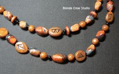 Faux stone and rune beads