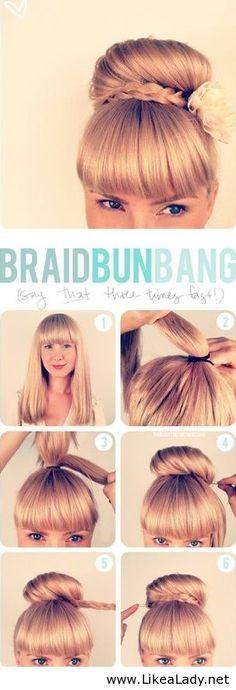 An easy braid bun