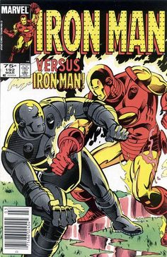 Cover for Iron Man March 1985 Marvel Iron Man Comic Books, Batman Comic Books, Comic Books Art, Comic Art, Book Art, Vintage Comic Books, Vintage Comics, Hq Marvel, Marvel Comics