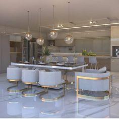 45 Adorable Kitchen Design Ideas Luxury Kitchens Adorable Design Ideas Kitchen in 2019 Luxury Dining Room, Elegant Dining Room, Dining Room Design, Luxury Kitchen Design, Luxury Kitchens, Interior Design Kitchen, Luxury Interior Design, Home Decor Sets, Luxury Home Decor