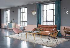arredamento-vintage-loft-budapest-soggiorno