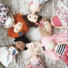 Restock today! SpunCandy Handmade Dolls