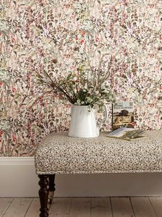 Charlotte Wallpaper from F&P Interiors. Read more on The Allure of Botanical Motifs | Design Ideas from F&P Interiors