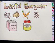 Easy and Happy Food: Hamburguesas de lentejas. Lentil burgers.