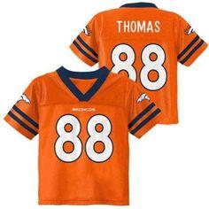 NFL Denver Broncos Toddler Demaryius Thomas Jersey, Toddler Boy's, Size: 4 Years, Orange