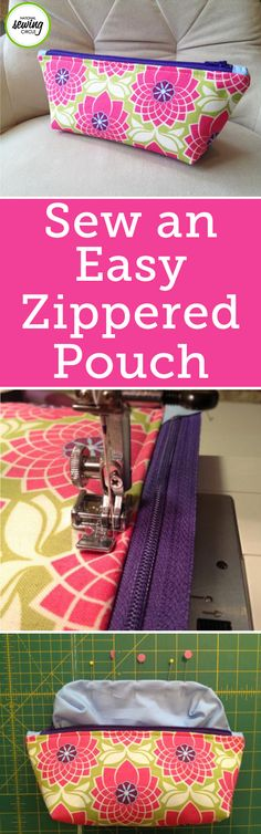 This small zippered pouch pattern is a quick and easy sewing project you can make in no time. You can use the pouch to store makeup, carry toiletries while traveling, keep your purse organized, or even as a casual clutch. The possibilities are endless with this cute and easy-to-sew design.
