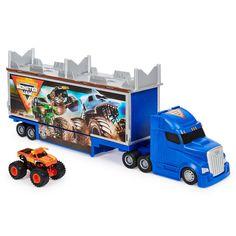 Monster Jam Toys, Monster Trucks, Hot Wheels, Flying Monsters, Atv Car, Thing 1, Transporter, Toy Trucks, Folded Up