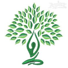 Yoga Tree Embroidery Designs 1561-tree3
