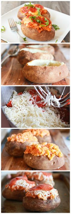 Sneaky Pizza Baked Potatoes