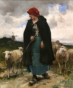 Are women pastors mentioned in the New Testament? Comment: Women were the ones who headed the House Churches; Later the Men took that control out of their hands. Elimination of House Churches. Oil Painting Pictures, Pictures To Paint, Art Pictures, Images D'art, Sheep Paintings, Sheep Art, Arte Country, Oil Painting For Sale, Guache