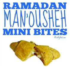 Ramadan is a good time to adjust the quantities of the different foods one consumes so we made these man'ousheh mini bites to help. Iftar, Crescent Rolls, Different Recipes, Ramadan, Daughters, Soup, Warm, Foods, Crafty