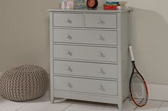 Jubilee 4 +2 Drawer Chest in Soft Grey