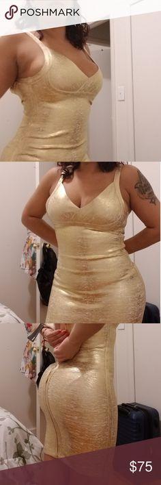 f3a2fffdc73 Original price  89.99 Price  75  golddress  holidaysale  holodaydress   sexyminidress  depop  poshmark Fashion Nova Dresses Mini