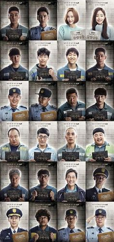 """tvN's upcoming Wednesday-Thursday drama """"Prison Playbook"""" has released 24 new character posters ahead of its upcoming premiere. """"Prison Playbook"""" will be p Korean Drama Best, Korean Drama Movies, Korean Actors, Korean Dramas, Series Movies, Film Movie, Kdrama, Prison Life, Weightlifting Fairy"""