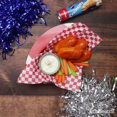Chicken Mozzarella Sticks - What's the ultimate Super Bowl finger food? Slathered in buffalo sauce and dipped in ranch, these babies are the definition of finger-licking good.