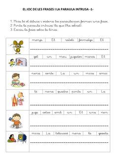 El joc de les frases i la paraula intrusa by Gloria Castillo via slideshare