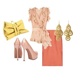 """""""Blush and Gold."""" by karrina-renee-krueger on Polyvore"""