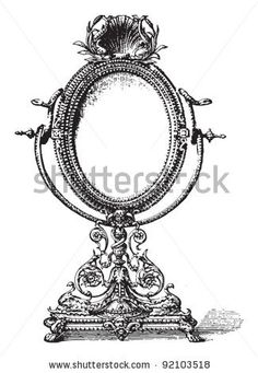 Vintage Hand Mirror Drawing Google Search Tat