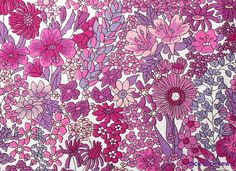 Liberty Fabric Margaret Annie Purple Pink dense floral Tana Lawn Fabric by PickClickSew on Etsy
