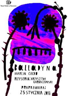 """Balladyna"" theatre posters by kuba kolodziejak, via Behance"