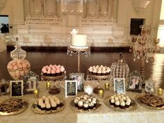 Vintage dessert table - love this look!