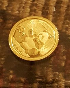 1 gram Gold Panda China Gold round coin .999 fine Panda China, Silver Bullion, Coins, Personalized Items, Gold, Coining, Rooms