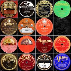 I'm guessing a lot of you don't know what these labels are on. old vinyl labels:)