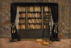 Miniature Library of Forgotten Books by L. Delaney on Etsy. I want this