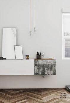 #simple. TIP: put some mirrors on a shelve to reflect light and create space.