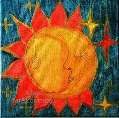 Acrylmalerei - MONDIN - KIRSTEN KOHRT - ein Designerstück von KIRSTEN-KOHRT-ART bei DaWanda
