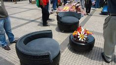 Recycled tyres!!!                                                                                                                                                      Más