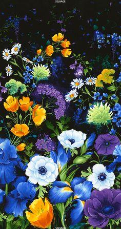 Timeless Treasures | 24″ Flower Panel