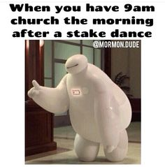 Truuuuuue 😂 I finally get in bed around 1 am after stake dances and have to wake up at 8 to get ready for church 😂😴 Funny Church Memes, Funny Mormon Memes, Lds Memes, Church Humor, Church Quotes, Lds Quotes, Funny Jokes, Saints Memes, Later Day Saints
