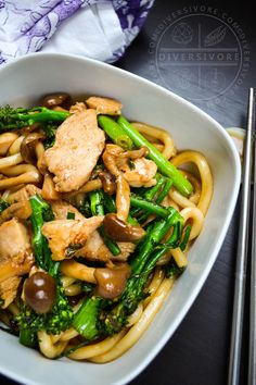 Japanese ingredients with a Chinese twist make this simple and delicious stir-fry a memorable meal. Swap out the chicken for doukan (firm tofu), plus or minus cashews, for an awesome vegetarian option. #stirfry #ChineseFood #mushrooms